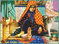 A Persian Woman and her Cat