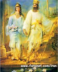Persian King and His Queen Esther
