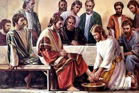 After Jesus's Last Supper with His Disciples He washed their Feet to teach them Humility and told them to Serve and Love
