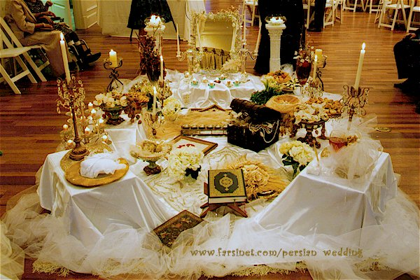 A traditional Iranian Persian Wedding Spread in a modern setup