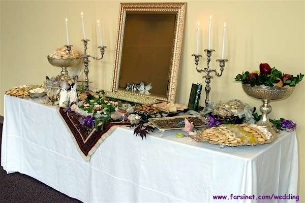 Persian Christian Sofreh Aghd, Iranian Wedding Table Setup, Iranian Christian Wedding Traditions