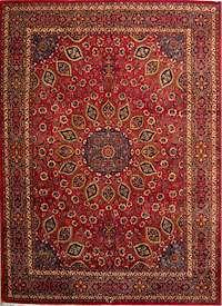 Persian Rug Mashhad Design Carpet