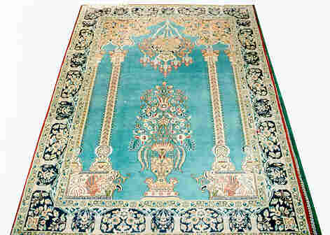 A Silk & Wool Persian Rug