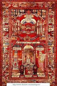 Kashan Silk Yahudi Rug