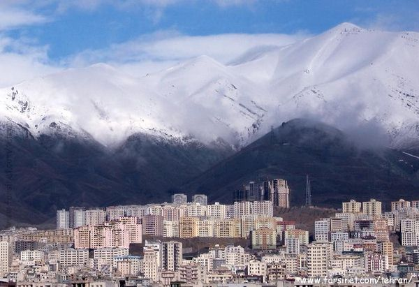 Snow Covered Mountains in North Tehran, Plenty of Snow Fall in Tehran for a great Ski season, Ski in Tehran the Iranian Style